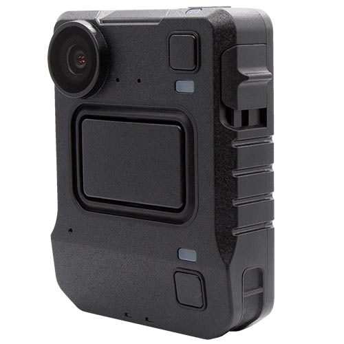Front facing photo of a Motorola Solutions VB400 Body Worn Camera